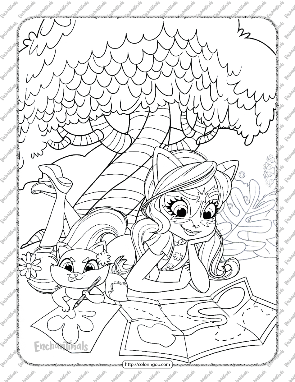 Printable Enchantimals Felicity Fox Coloring Page