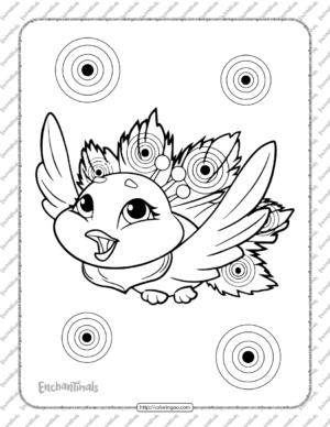 Printable Enchantimals Flap Coloring Pages
