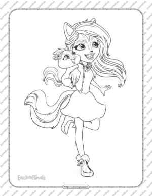 Printable Enchantimals Sage Skunk Coloring Page