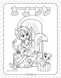 Printable Enchantimals Sage Skunk Coloring Pages