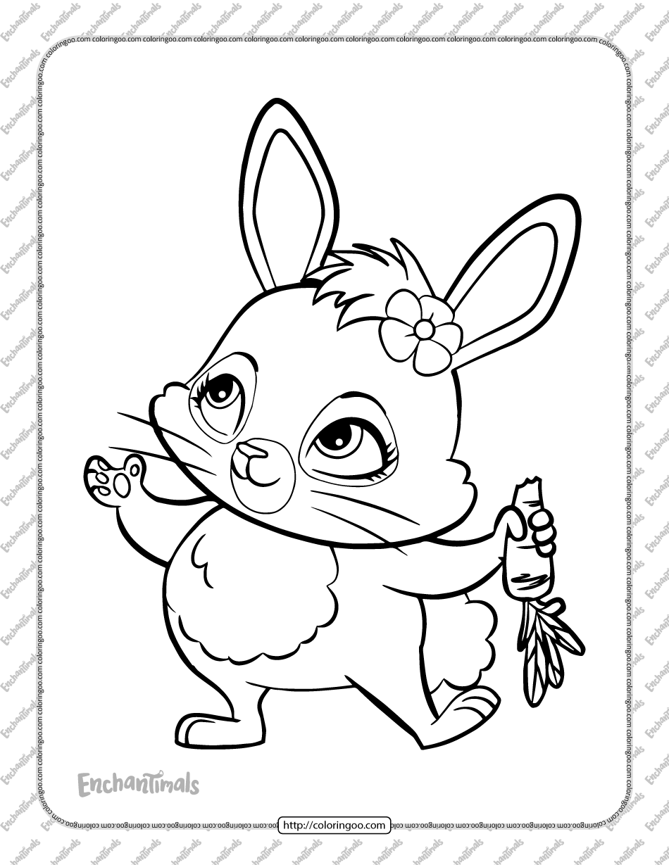 Printable Enchantimals Twist Coloring Page
