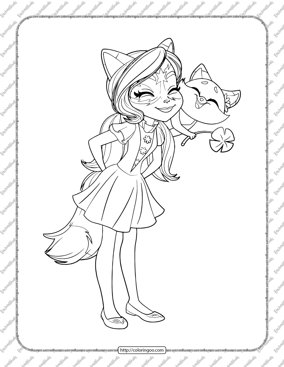 Printable Felicity Fox and Flick Coloring Page