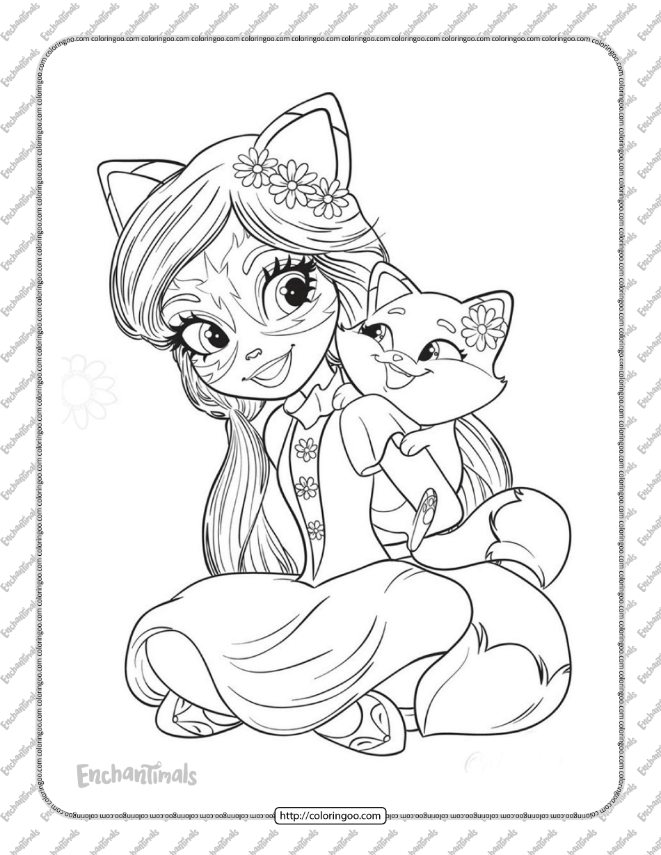 Printable Felicity Fox and Flick Coloring Pages