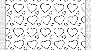 Printable Hearts Coloring Page