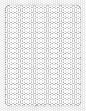 Printable Honeycomb Pattern Hexagon Sheet
