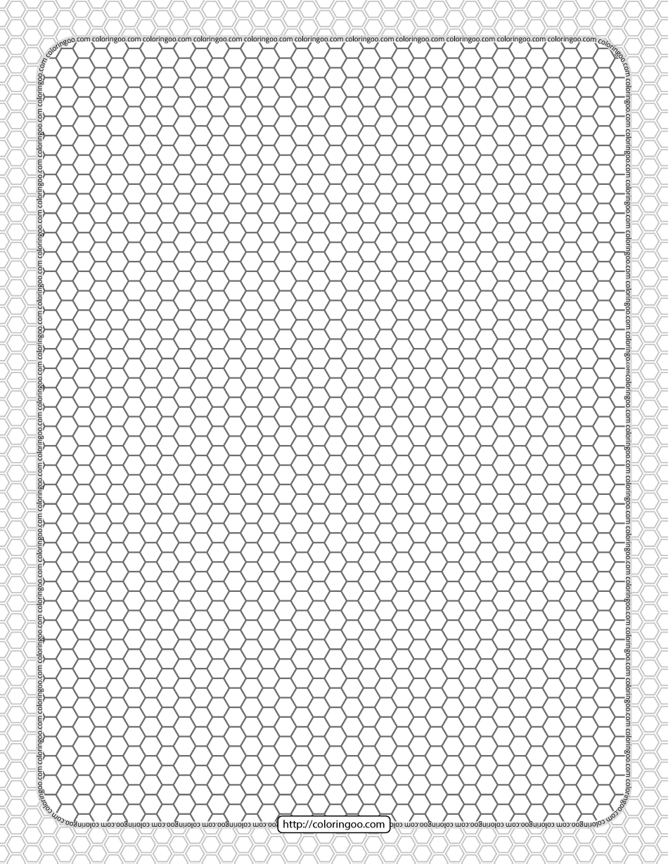 Printable Honeycomb Pattern Hexagon Sheet