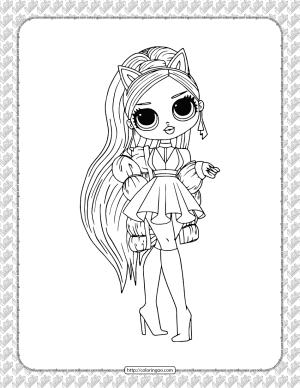 Printable LOL Doll Pdf Coloring Page