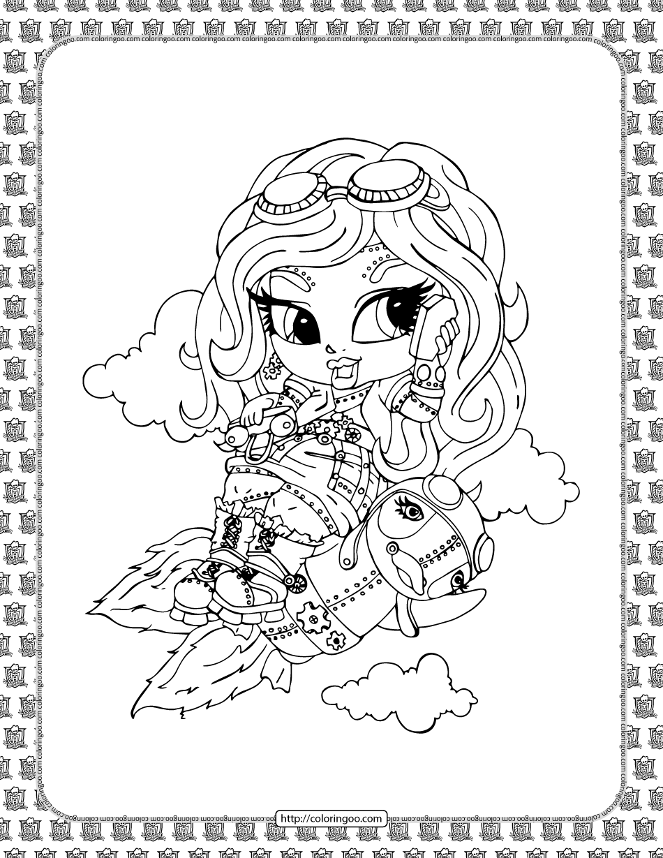 Printable Monster High Coloring Sheet