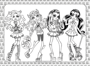 Printable Monster High Pdf Coloring Pages