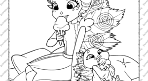 Printable Patter Peacock and Flap Coloring Page