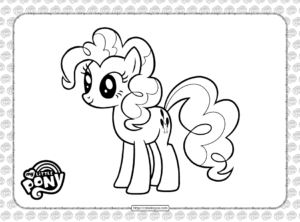 Printable Pinkie Pie Coloring Page