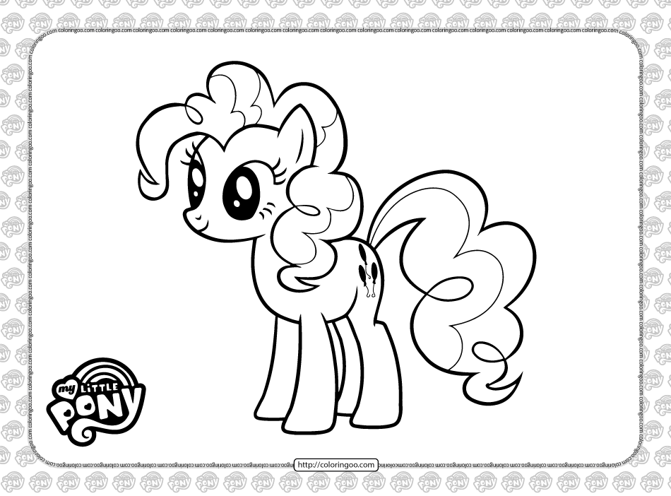 Printable Pinkie Pie Coloring Page