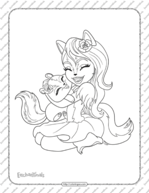 Printable Sage Skunk and Caper Coloring Page