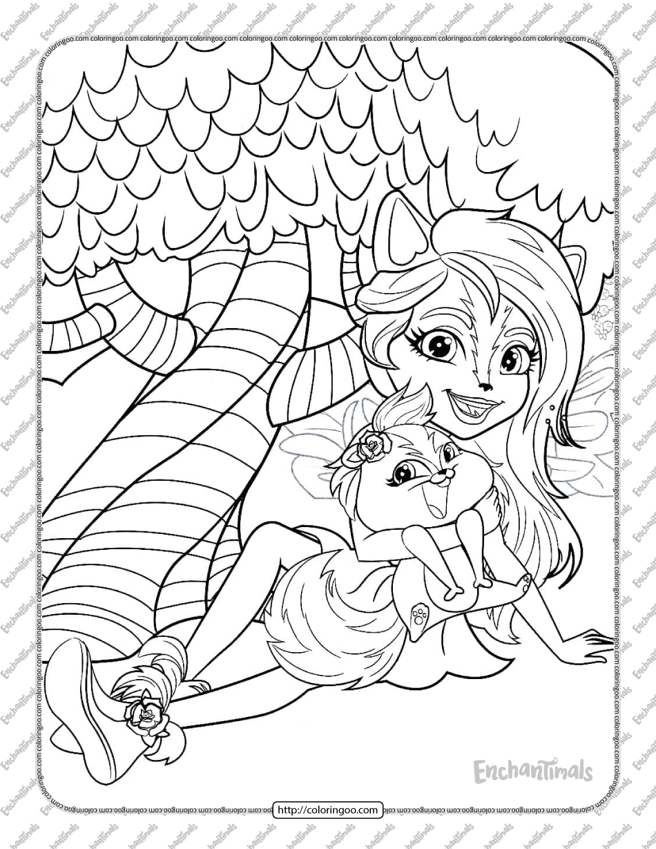 Printable Sage Skunk Coloring Pages for Kids