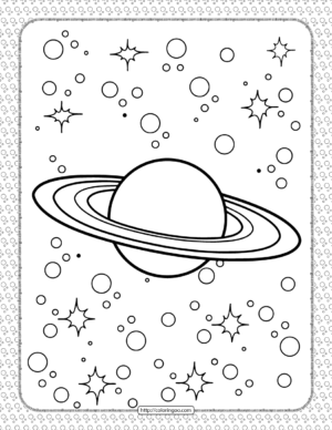 Printable Saturn Coloring Sheet