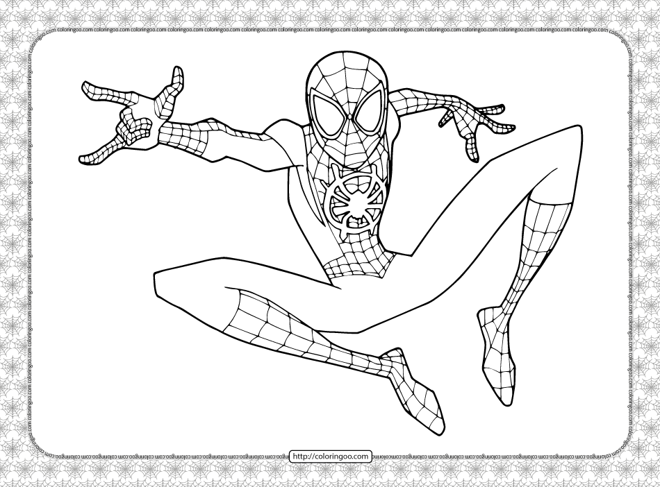 Printable Spider Man Coloring Pages