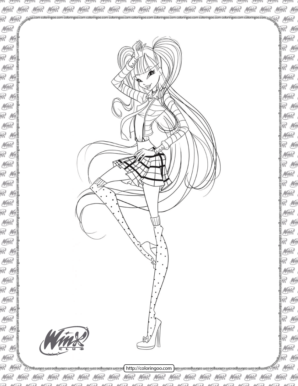 Printable Winx Club Musa Coloring Pages