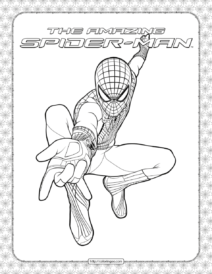 The Amazing Spider-Man Coloring Page