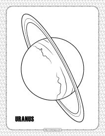Uranus Planet Coloring Pages