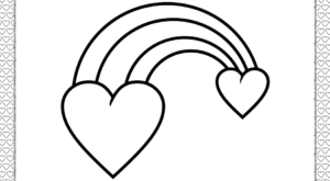 Valentine's Day Heart to Heart Coloring Page