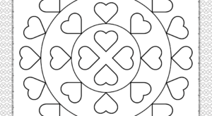 Valentine's Day Hearts Coloring Page