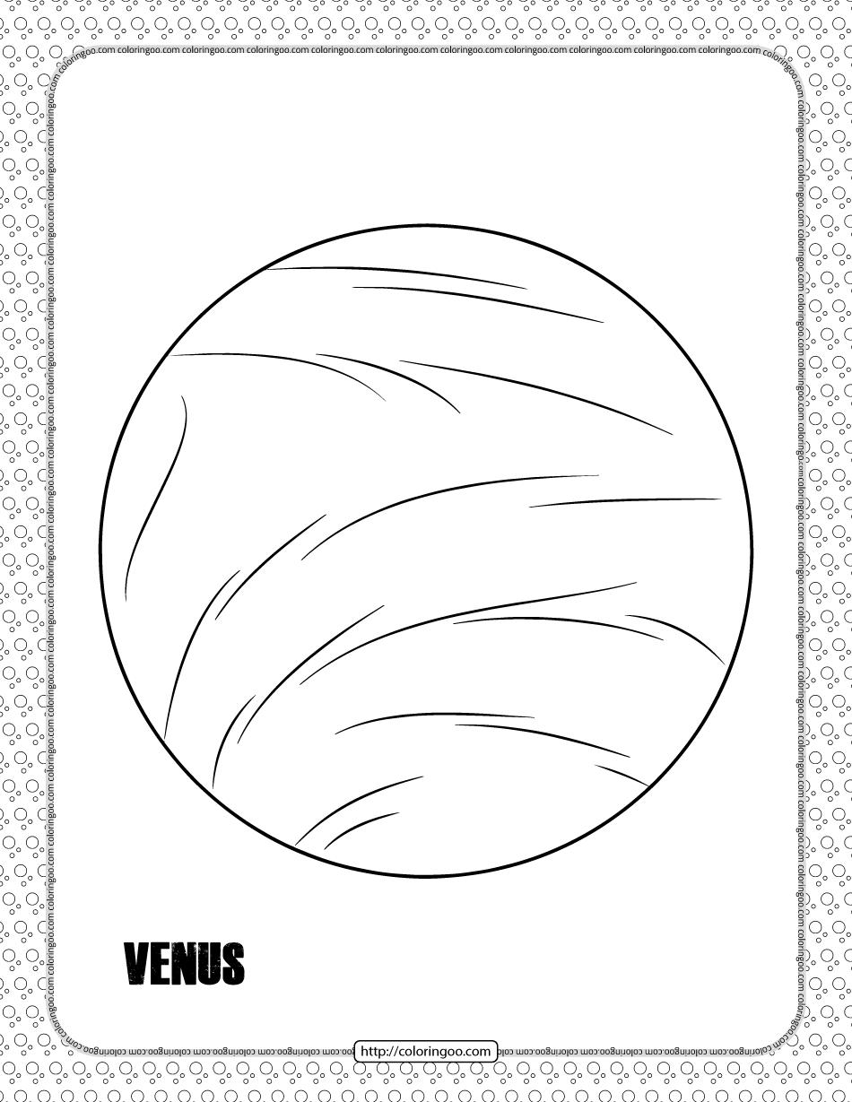 Venus Planet Coloring Pages