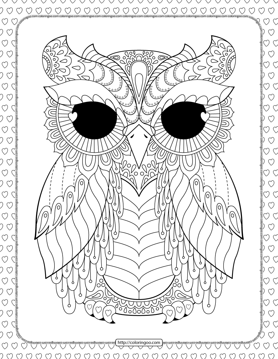 Free Printable Owl Mandala Coloring Page
