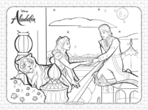 Disney Aladdin Invites Princess Jasmine Coloring Page