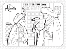 Disney Jafar Hypnosis The Sultan Coloring Page