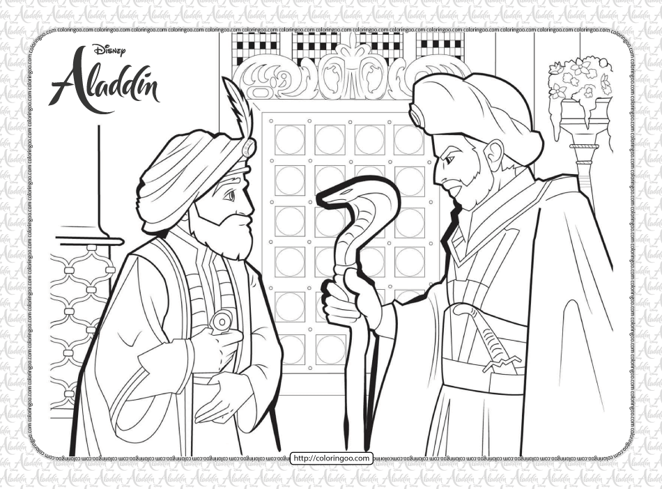Disney Jafar Hypnosis The Sultan Coloring Page