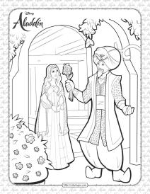 Disney The Genie Distracts Dalia Coloring Sheet