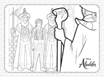 Free Printable Disney Aladdin Coloring Pages