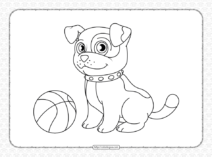 Free Printable Dog Coloring Sheet