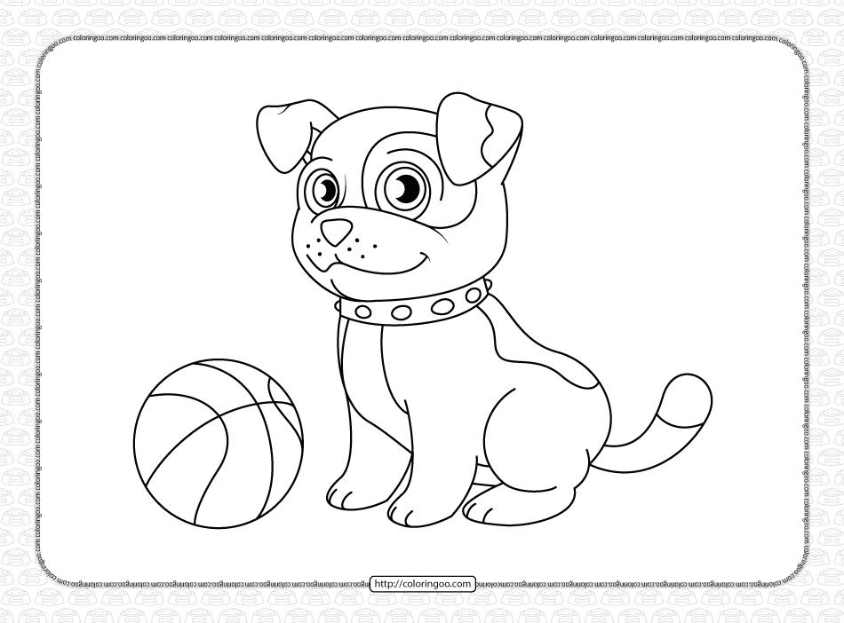 Free Printable Dog Coloring Sheet