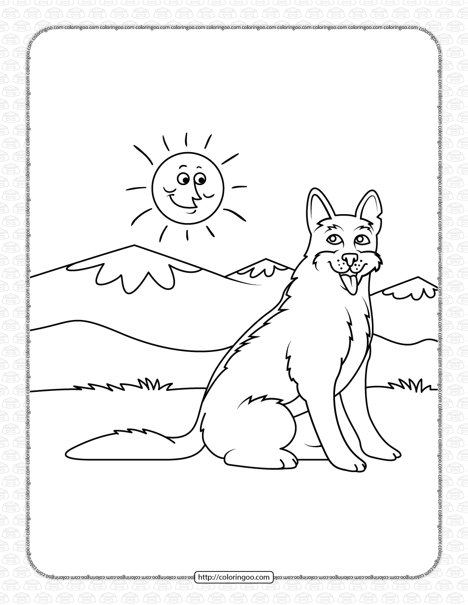 Free Printable Dog Pdf Coloring Pages