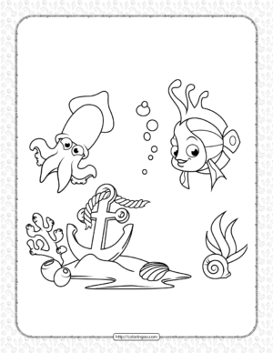 Free Printable Sea Life Coloring Page
