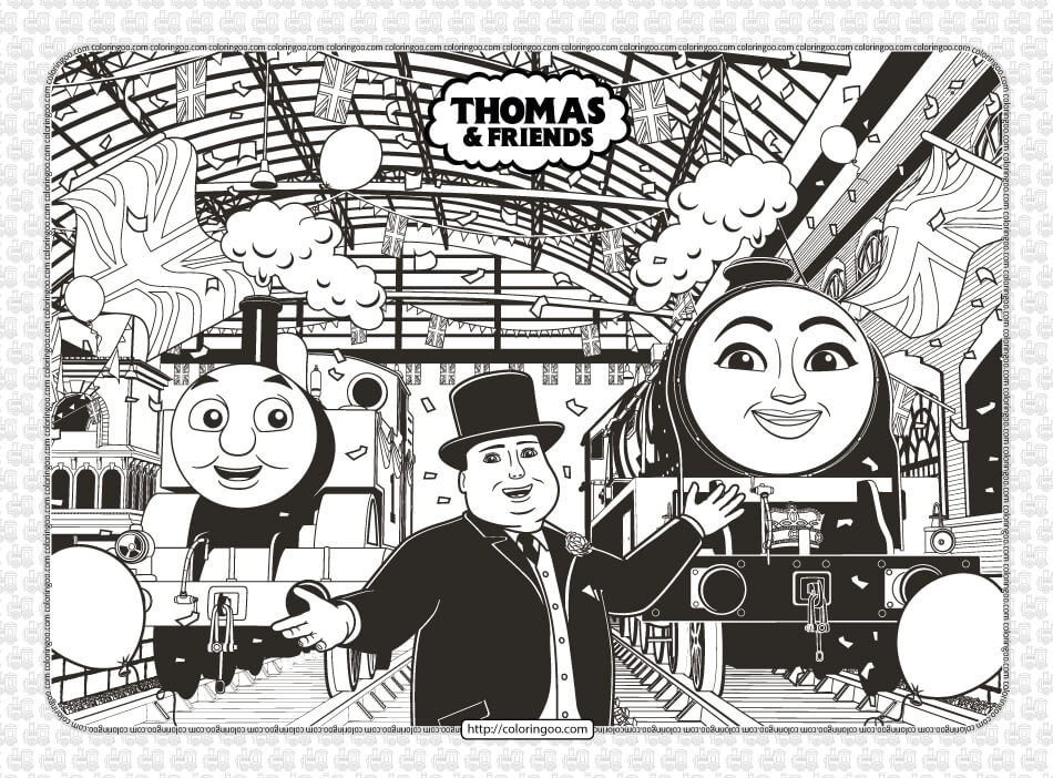 Free Printables Thomas and Friends Coloring Pages