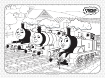 Free Printables Thomas and Friends Coloring Sheet