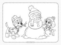 Holidays with The Paw Patrol Pups Coloring Page