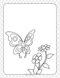 Printable Butterfly Pdf Coloring Pages 01