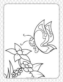 Printable Butterfly Pdf Coloring Pages 03