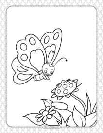 Printable Butterfly Pdf Coloring Pages 04
