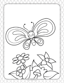 Printable Butterfly Pdf Coloring Pages 05