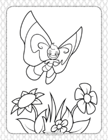Printable Butterfly Pdf Coloring Pages 06