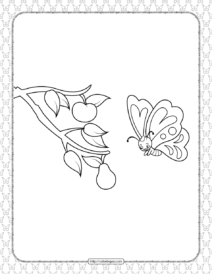 Printable Butterfly Pdf Coloring Pages 07