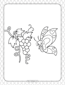 Printable Butterfly Pdf Coloring Pages 08
