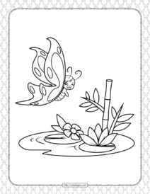 Printable Butterfly Pdf Coloring Pages 09