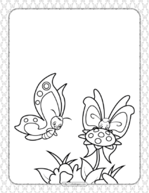 Printable Butterfly Pdf Coloring Pages 10