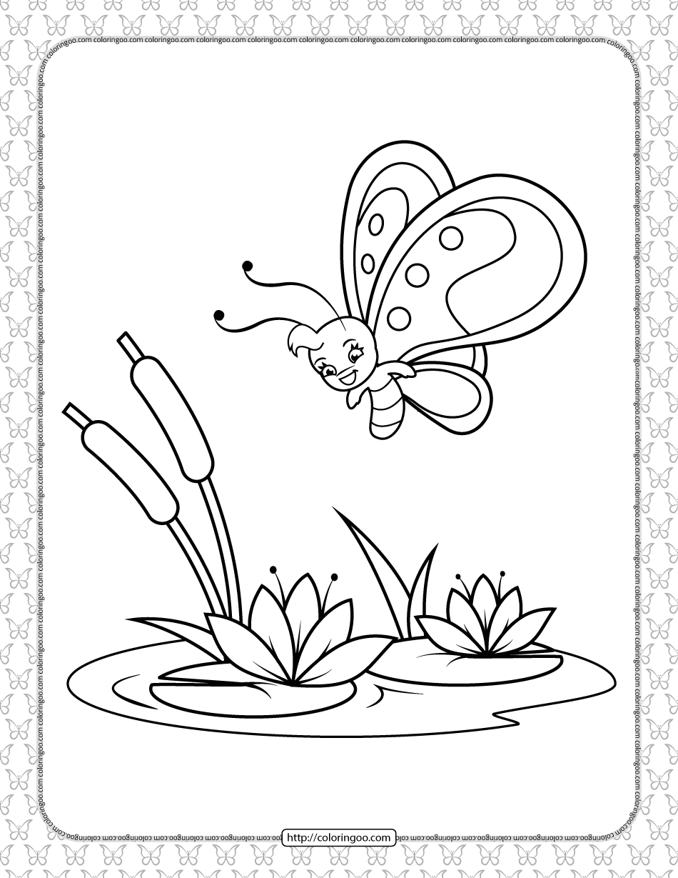 Printable Butterfly Pdf Coloring Pages 11