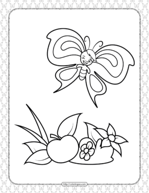 Printable Butterfly Pdf Coloring Pages 12
